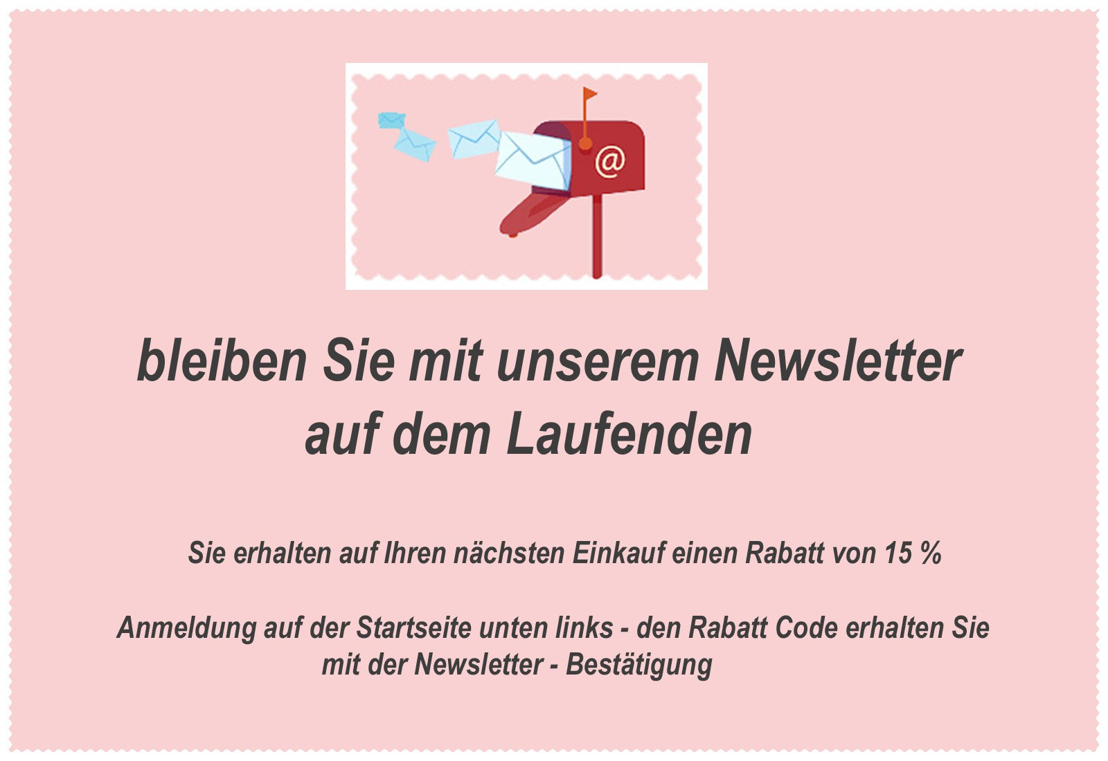 newsletter rabatt